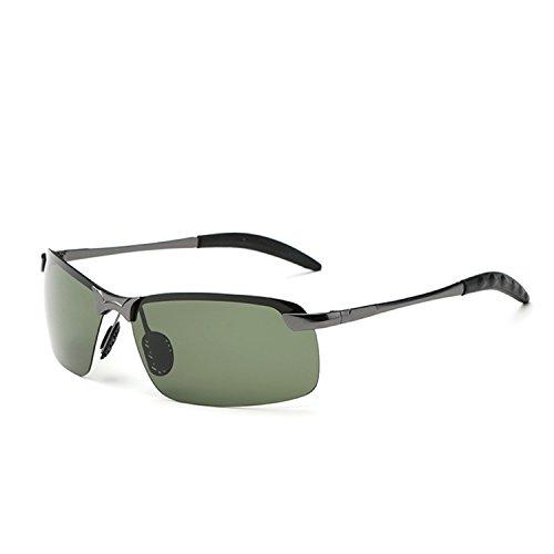 DUJUANNIAO Men Rectangle Wrap Polarized Sunglasses Fashion Driving Oculos Male Sun Glasses C7 Gun - Sunglasses 1930s