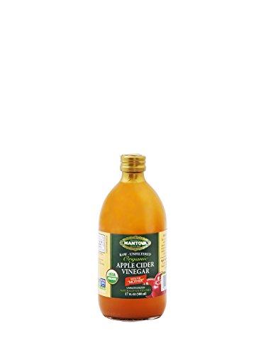 Mantova Raw Unfiltered Organic Apple Cider Vinegar, 17 Ounce