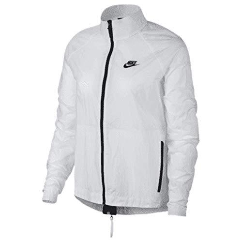NIKE Women's Tech Hypermesh Nylon Jacket Windrunner White Size M 836463-100
