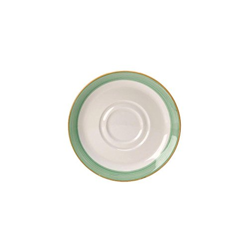 Steelite 15290165 Rio Green 4-5/8'' Double Well Saucer - 36 / CS by Steelite