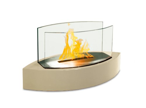 Lexington Fireplace - Anywhere Fireplace - Lexington Tabletop Bio Ethanol Clean Burning Eco Friendly Fireplace in Beige