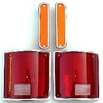 73 80 Chevy & GMC 4Pc Light Kit, Tails & Fender Lights (Conversion Fender Kit)