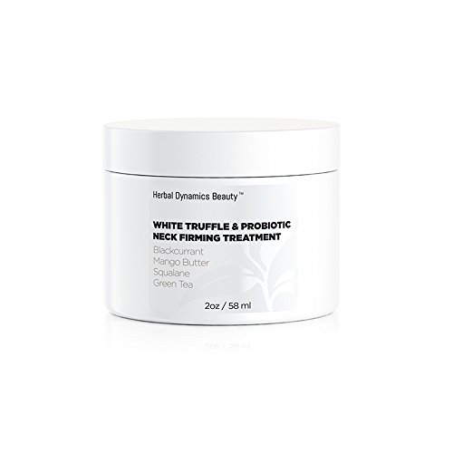 HD Beauty White Truffle + Probiotic Neck Firming Treatment with Blackcurrant, Mango Butter, Squalane, and Green Tea for Firming Sagging Skin and Smoothing Fine Lines.