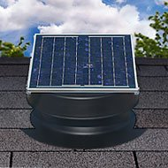 Solar Powered Attic Fan (Solar Attic Fan 36-watt - Black - with 25-year Warranty - Florida Rated by Natural Light)