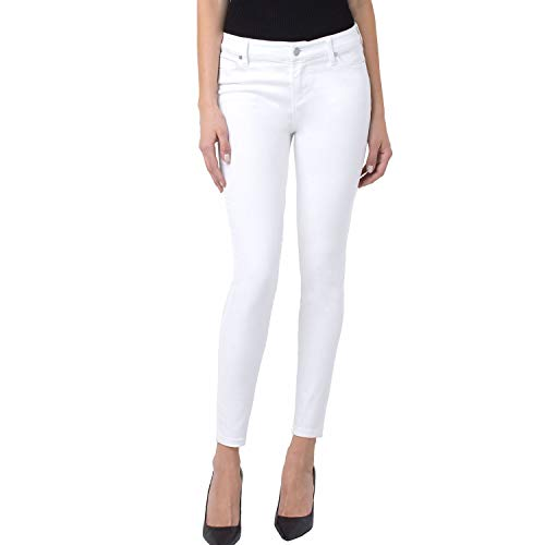 (Liverpool Women's Penny Ankle Skinny Vintage Slub Stretch Twill in Bright White Bright White Jeans)