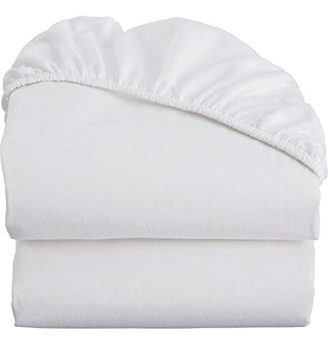 Classic 200tc Cotton - White Cotton King Fitted Sheets - 2-Pack 200TC Heavy Weight Quality, Elegant Double Stitched Tailoring (2, King)