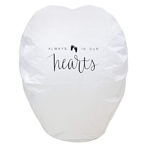4PK Chinese Memorial Lanterns | Paper | Biodegradable | Built-in Fuel Cell | Fire Retardant | Unique Gift | Easy to Use for Funerals, Memorials & Celebrations of -