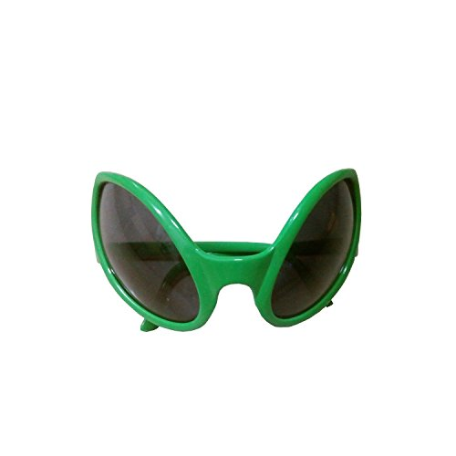 Green Plastic Alien Sunglasses Party - Crazy Glasses