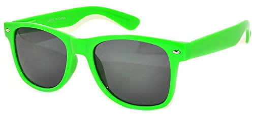 Retro 80's Vintage Sunglasses Smoke Lens Green Frame for Women - Green Glasses
