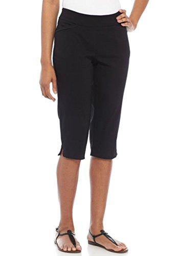 Capris Classic Stretch (Kim Rogers Women's Petite Stretch millen Capri Pant (True Black, 10P))