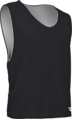 - Game Gear AP-896Y-CB Youth Athletic Mesh Poly Round Neck Sleeveless Reversible Jersey (Youth Small, Black)