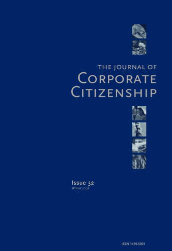 Sustainable Enterprise: A Conversation about the Future: A special theme issue of The Journal of Corporate Citizenship (Issue 30)