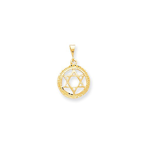 10K Gold STAR OF DAVID Charm Pendant (1.18 in x 0.75 -