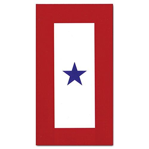 Vanguard Blue Star Service Flag 3x5 - Family Member Military Service Banner - One Blue Star Service Banner Flag - 3 x 5 Feet