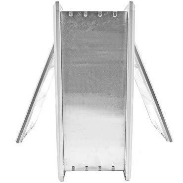 Endura Flap Medium Wall Mount - White Double Flap 8'' x 14'' Pet Door by Endura Flap (Image #3)