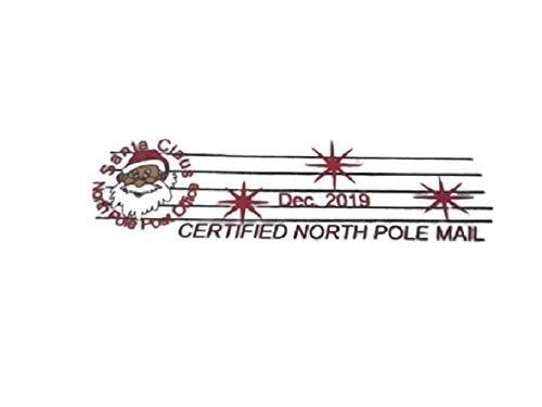 Sent Anonymously North Pole Postmark Stamp and Santa Sticker Official Seal on the Envelope Perfect for Secret Santa Personalized Santas Official Naughty List Certificate