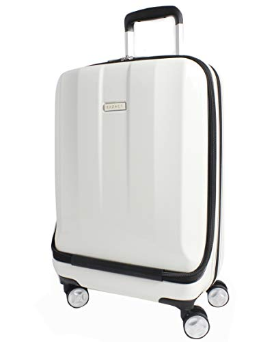 """Exzact Cabin luggage/Carry-on Suitcase Bag - 20"""" / Hard shell/Hardside/Front Pocket for Laptops / 4 wheels 360° Spinning/Lightweight ()"""