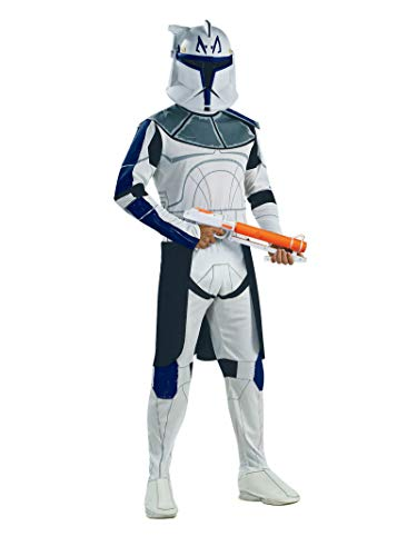 Captain Rex Costume (Rubie's Men's Star Wars Clone Adult Trooper Captain Rex, Multicolor,)