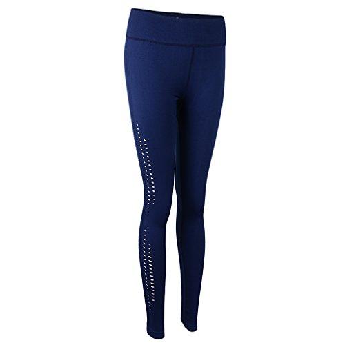 Magideal Pantalones de Mujer Deportes Entrenamiento Gimnasio Atlético Yoga Polainas Vacaciones Luau azul marino cyan
