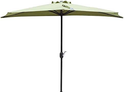 Island Umbrella NU5409CG Lanai Half Patio Umbrella