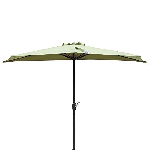 Island Umbrella NU5409CG Lanai Half Patio Umbrella, Cilantro Green
