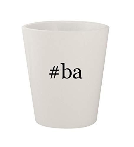#ba - Ceramic White Hashtag 1.5oz Shot Glass