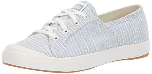 Keds Women's Sandy Stripe Shoe, Light Blue, 8 M US