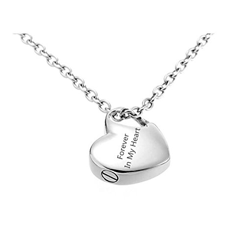 - Sunling Custom Engravable Stainless Steel Name Date Heart Urn Necklace for Human Pet Ashes Memorial Keepsake Cremation Pendant for Men,Women,Kids,Dad,Mom,Dog,Cat,Free Engraving