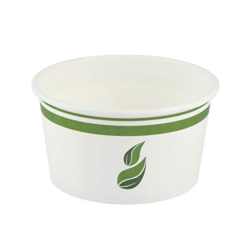 Compostable PLA-Lined Bowl, 12 Ounce, White, 500 Pack ()