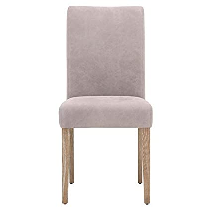 promo code a8473 8d387 Amazon.com - MAKLAINE Genuine Leather Dining Chair in Pearl ...