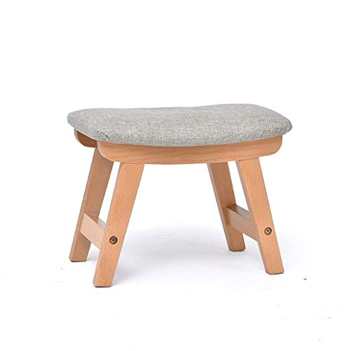 Environmentally Friendly and Tasteless, Solid Wood Makeup Stool Poffee Modern Minimalist 4 Legs Children's Stool Living Room Bathroom Bedroom Lounge,Rugged Load Carrying Capacity