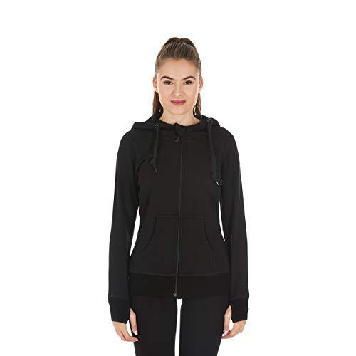 Minus33 Merino Wool Clothing Women's Aleutian Expedition Wool Full Zip Hoody, Black, XX-Large