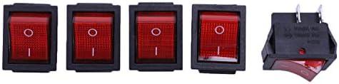 DaysAgo 5 x Rot Licht Ein/Aus DPST Boat Wippschalter 16 A / 250 V 20 A / 125 V AC