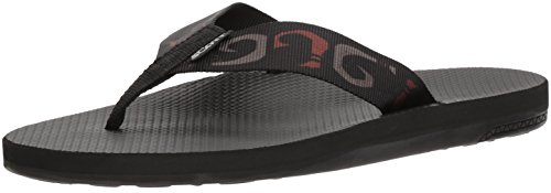 Men's Scott Manoa Sandals | Size 10 Flip Flops with Hook Design | Molded Arch | Custom Textured Outsole Prevents Slipping ()