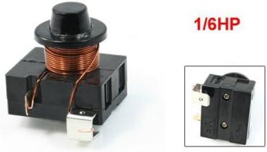 Motor de arranque Negro Shell Plástico Compresor Relevo por 1/6 HP ...