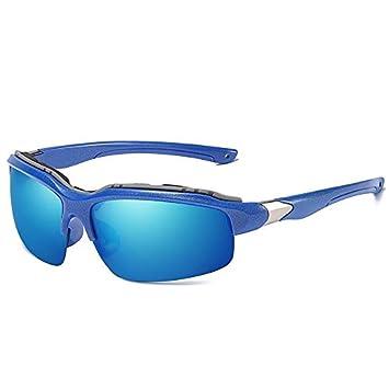 Mjia sunglasses Gafas Deportivas Hombre,Gafas de Sol polarizadas Espejo de equitación de Deportes al
