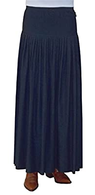 Baby'O Women's Original BIZ Style Ankle Length Long Denim Skirt