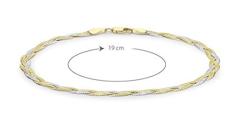 Carissima Gold Pulsera de mujer con oro bicolor de 9 quilates (375/1000), sin gema Carissima Gold Pulsera de mujer con oro bicolor de 9 quilates (375/1000), sin gema Carissima Gold Pulsera de mujer con oro bicolor de 9 quilates (375/1000), sin gema