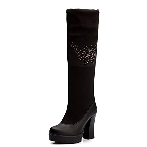 maymeenth-womens-high-heels-blend-materials-solid-boots-with-slipping-sole-and-thread-black-39