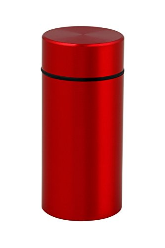 Stash Jar - Smell Proof Discreet Aluminum Storage Container with Airtight Seal (Ruby Red)