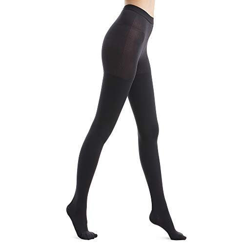 Fytto 1026 Women's Compression Pantyhose, 15-20mmHg Support Hosiery, Flight Stockings – Improved Circulation & Comfort for Professionals & Travelers, Anti-Swelling Relief – Medium, Black