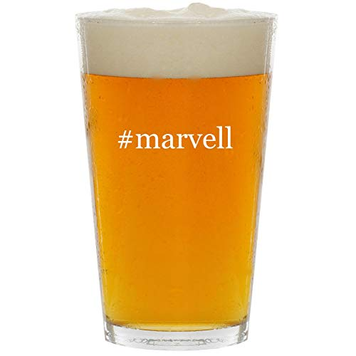 #marvell - Glass Hashtag 16oz Beer Pint
