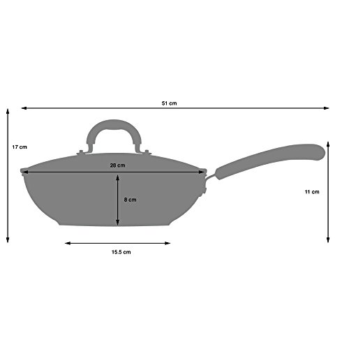 -[ ProCook Gourmet Induction Non-Stick Wok & Lid 28cm - LIMITED OFFER!  ]-