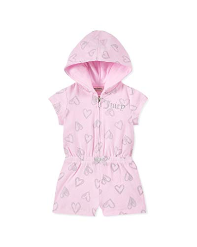 Juicy Couture Baby Girls Hooded Romper, Pink/Silver 18M from Juicy Couture