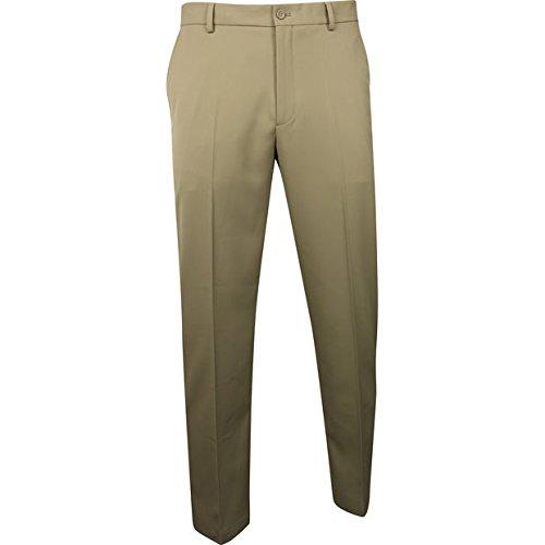 Microfiber Greg Pants Norman - Greg Norman Mens Classic Profit Flat Front Pants Khaki 32 38
