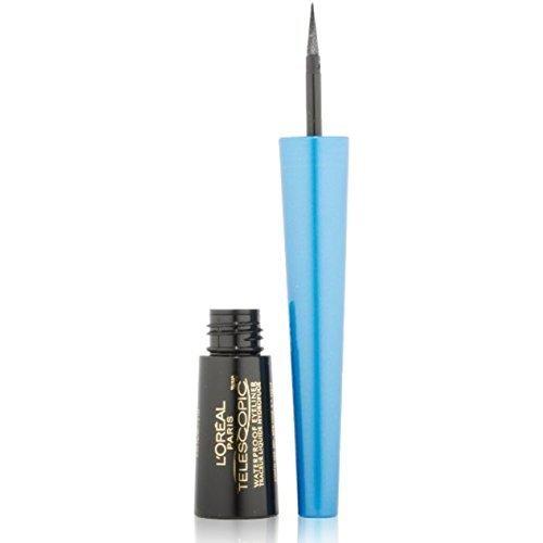 L'Oreal Telescopic Waterproof Precision Liquid Eyeliner, Black [800] 0.06 oz (Pack of 12) by L'Oreal Paris