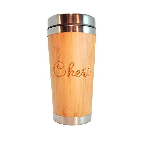 Personalized Bamboo Coffee Tumbler CUSTOMIZE product image