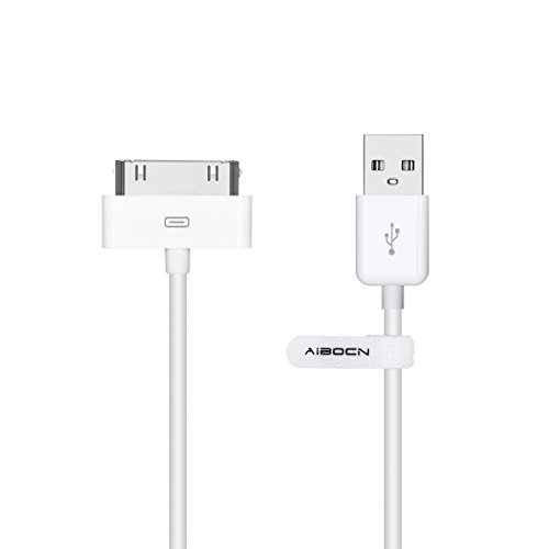 Aibocn MFi Certified 30 Pin Sync and Charge Dock Cable for iPhone 4 4S / iPad 1 2 3 / iPod Nano/iPod Touch - White (3g Iphone Dock Connector)