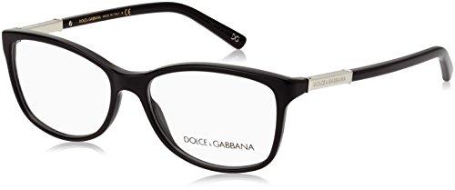 (Dolce & Gabbana Women's DG3107 Eyeglasses Black 54mm)