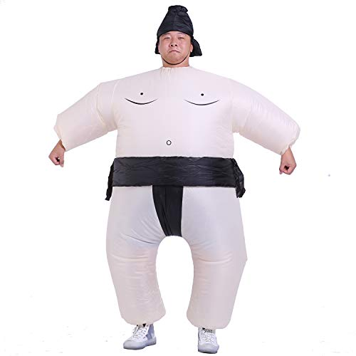 starcourtyard Halloween Inflatable Sumo Wrestler Costume Suit for Adults Halloween Costume (Large) ()
